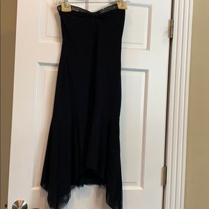 Yigal black mesh strapless dress. NWT. Size 10